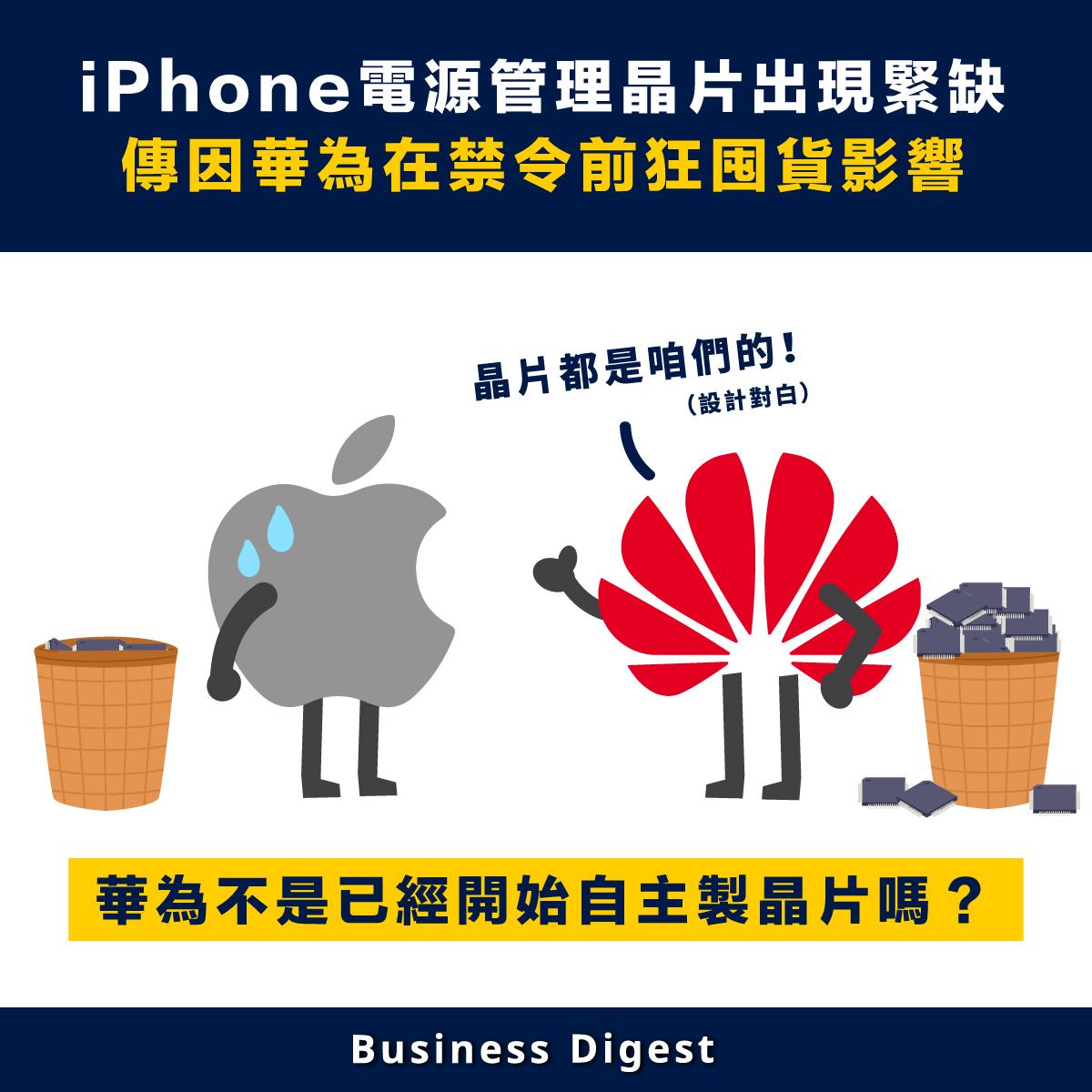 外媒消息,蘋果iPhone生產線面臨電源晶片的短缺,或難以滿足年底旺季需求,主要是受到疫情及華為大量囤貨,導致市場供應緊張。