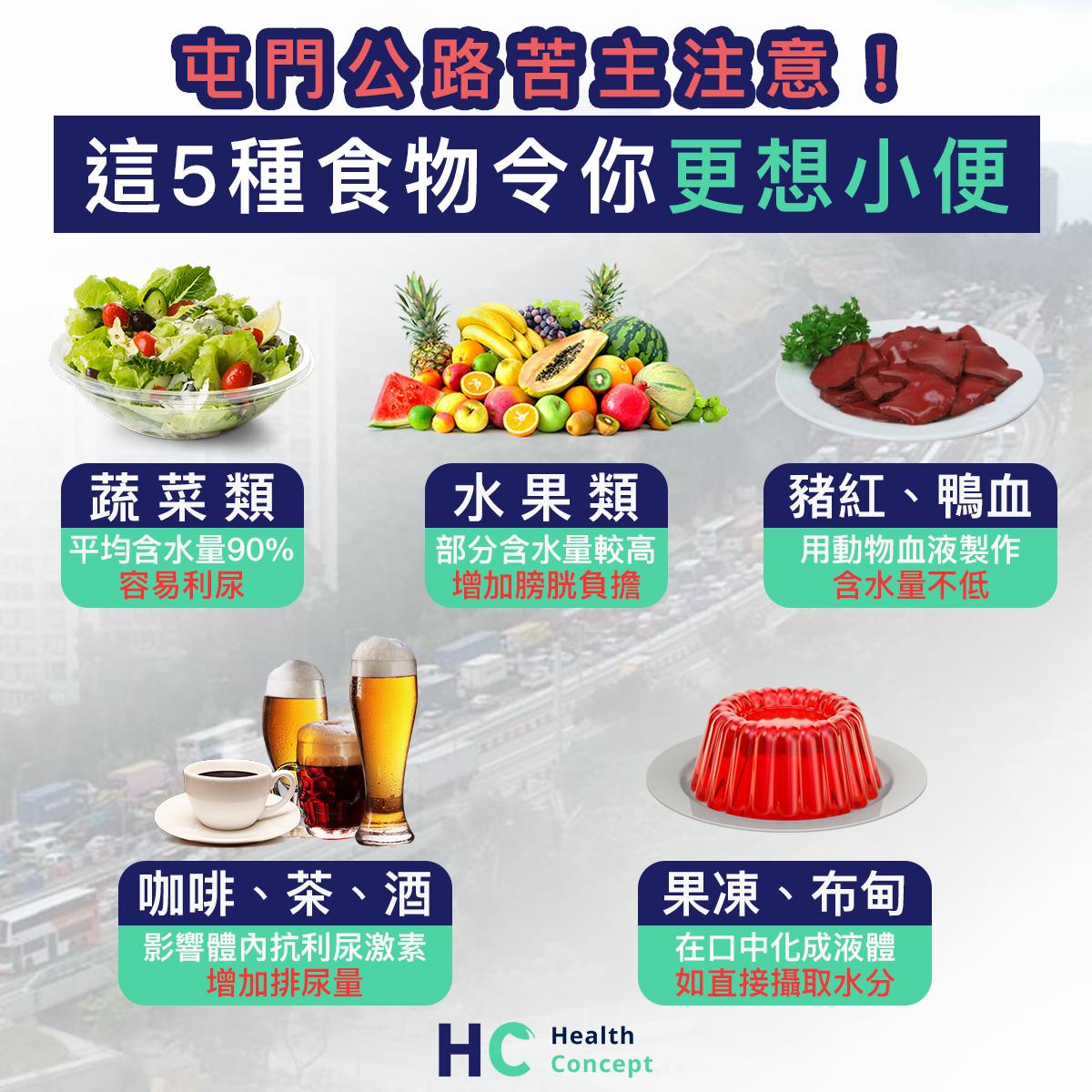 【#塞車忌食】屯門公路苦主注意! 這5種食物令你更想小便
