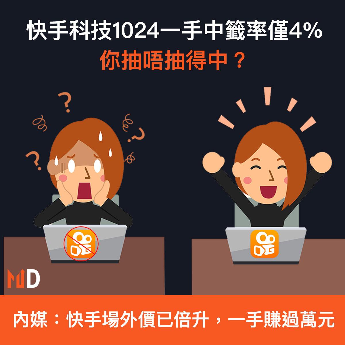 【重點新股】快手科技1024一手中籤率僅4%,你抽唔抽得中?