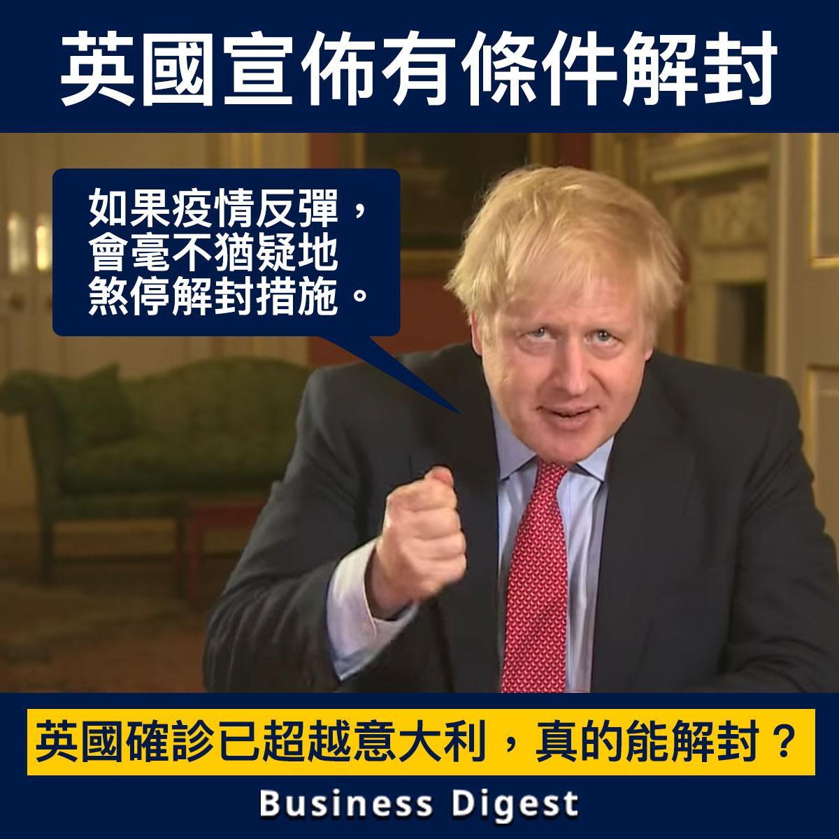 【商業熱話】英國宣佈有條件解封!約翰遜:「如果疫情反彈就煞停解封。」