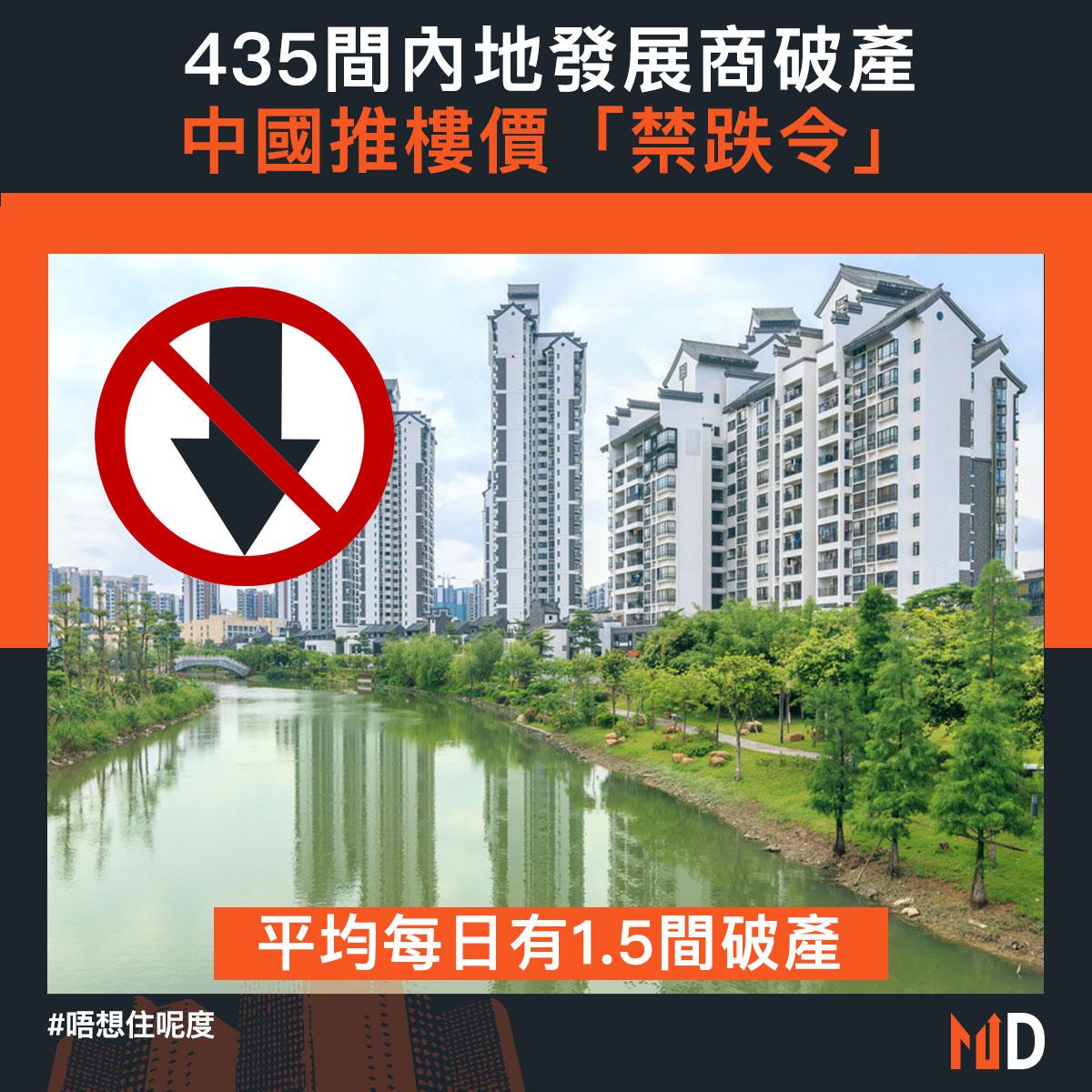 【唔想住呢度】435間內地發展商破產 中國推樓價「禁跌令」