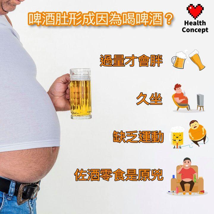 【#健康百科】啤酒肚形成因為喝啤酒?