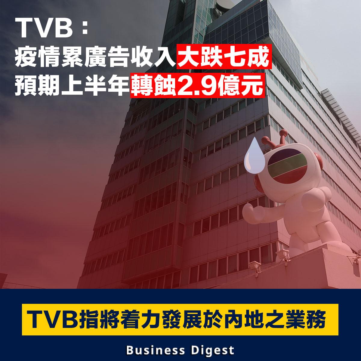 【商業熱話】TVB:「疫情累廣告收入大跌七成,預期上半年轉蝕2.9億元」