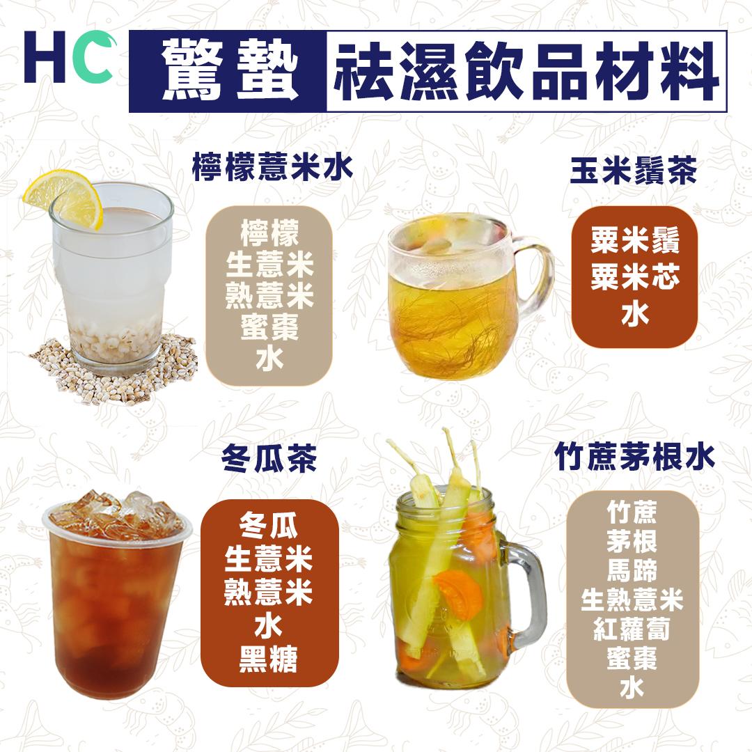 驚蟄濕氣重 4種祛濕飲品排走濕氣