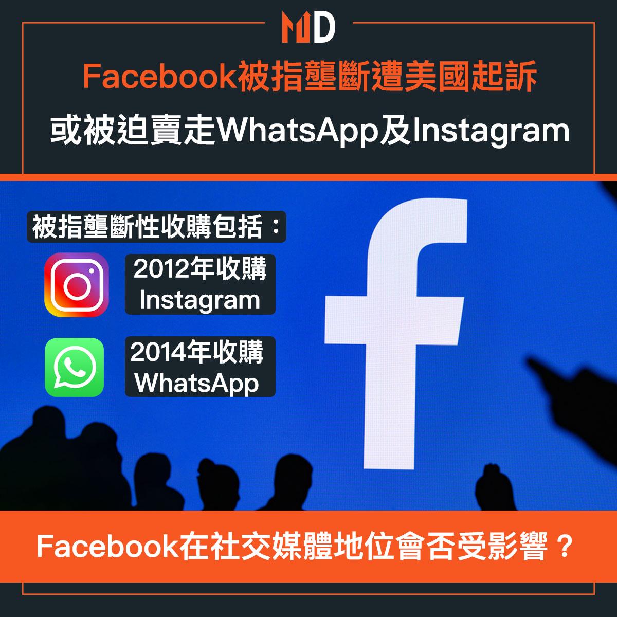 社交媒體Facebook被指壟斷