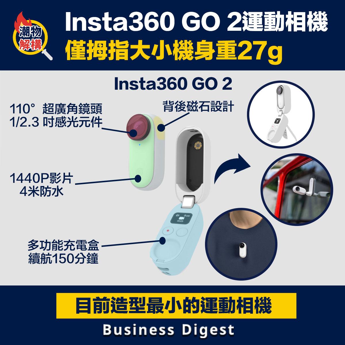 Insta360發表全新運動相機(Action Cam)Insta360 GO 2