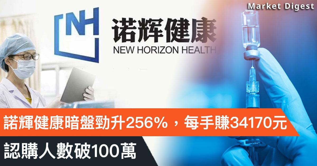 【重點新股】諾輝健康暗盤勁升XXX%,每手賺逾XXX,認購人數破100萬