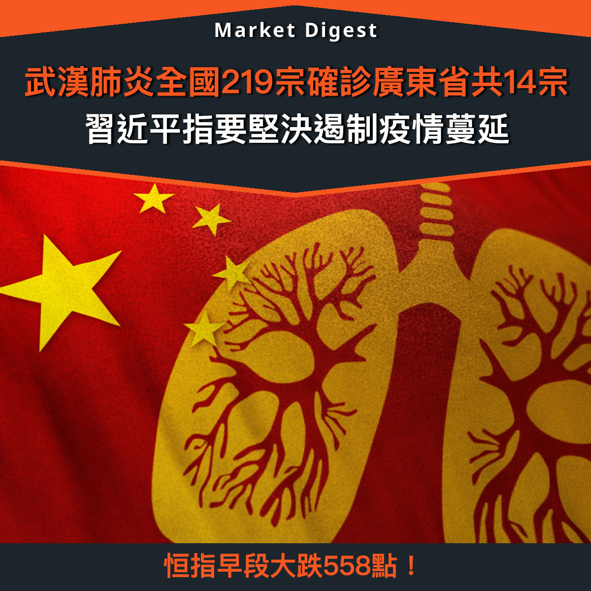 【市場熱話】武漢肺炎全國219宗確診,習近平指要堅決遏制疫情蔓延