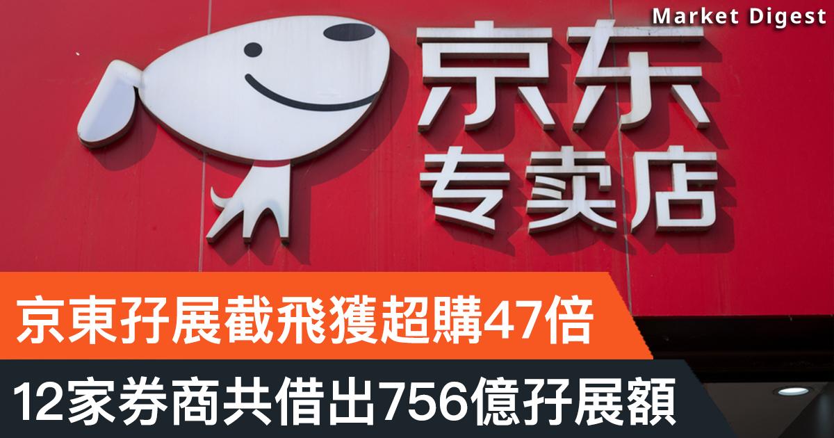 【重點新股】京東孖展截飛獲超購47倍,12家券商共借出756億孖展額