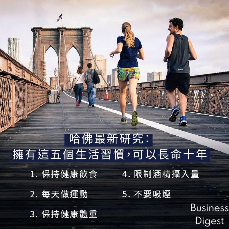 【商業熱話】擁有這五個生活習慣,可以長命十年