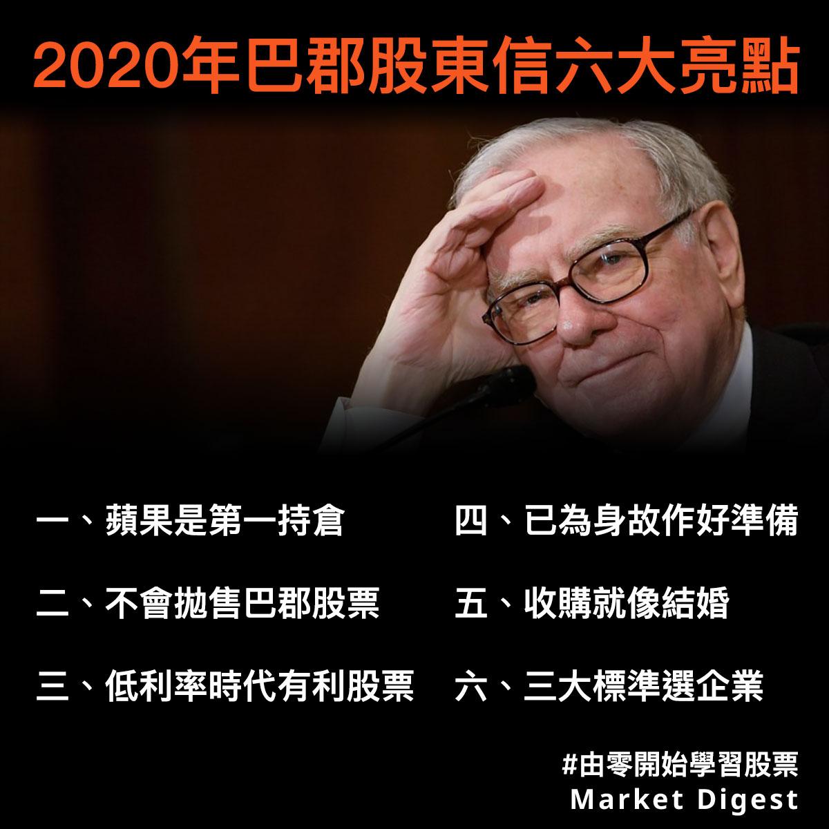 【由零開始學習股票】2020年巴郡股東信六大亮點