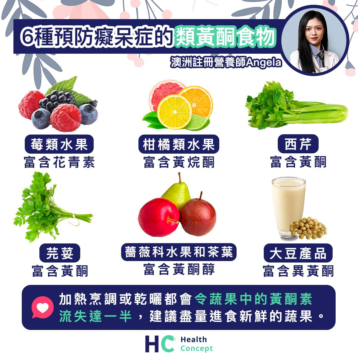 【#營養食品】6種預防癡呆症的類黃酮食物