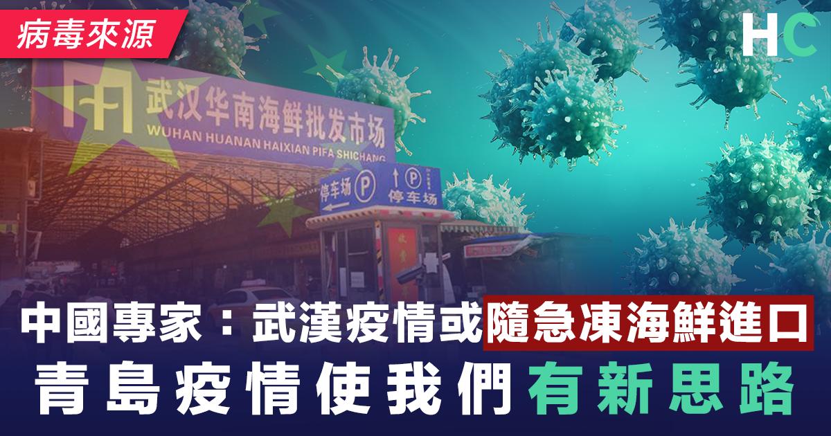 中國專家:武漢疫情或隨急凍海鮮進口 青島疫情使我們有新思路