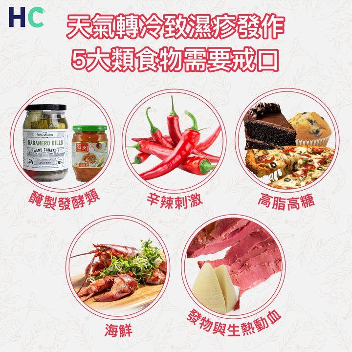 【食物營養】天氣轉冷致濕疹發作 5大類食物需要戒口