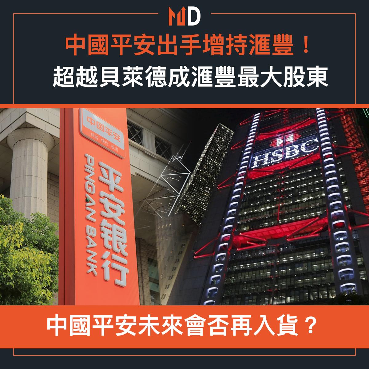 【平保買貨】中國平安出手增持滙豐!超越貝萊德成滙豐最大股東