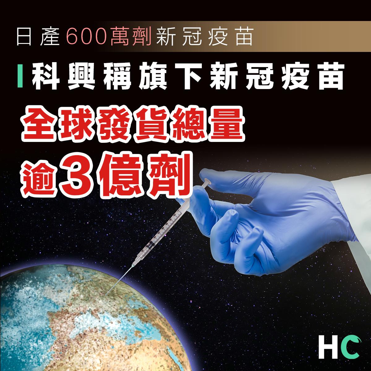 每日產量600萬劑以上 科興疫苗全球發貨總量超過3億劑