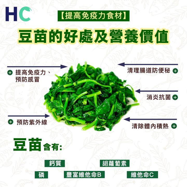 【#營養食物】豆苗的好處及營養價值