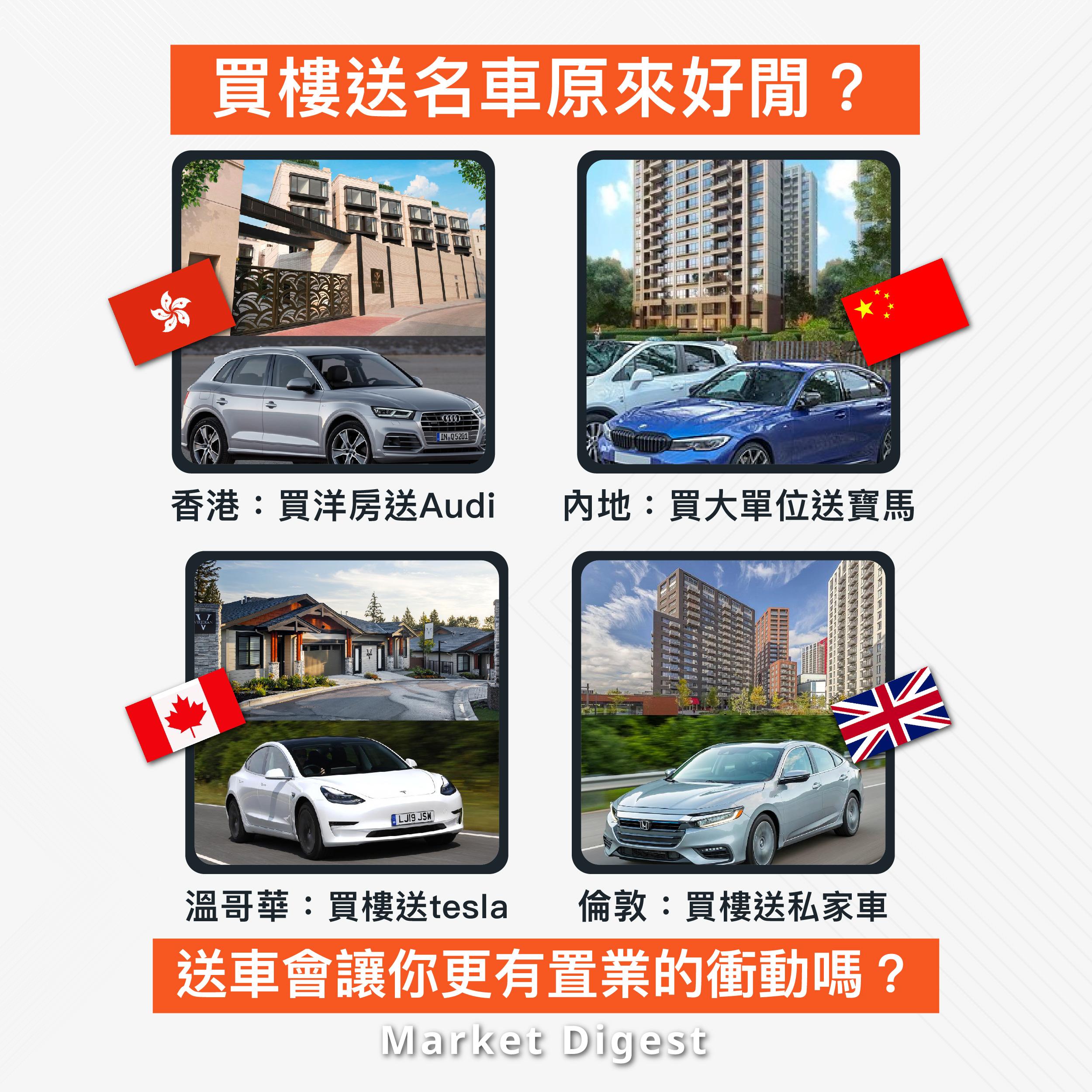 【海外樓市探索】買樓送名車原來好閒?