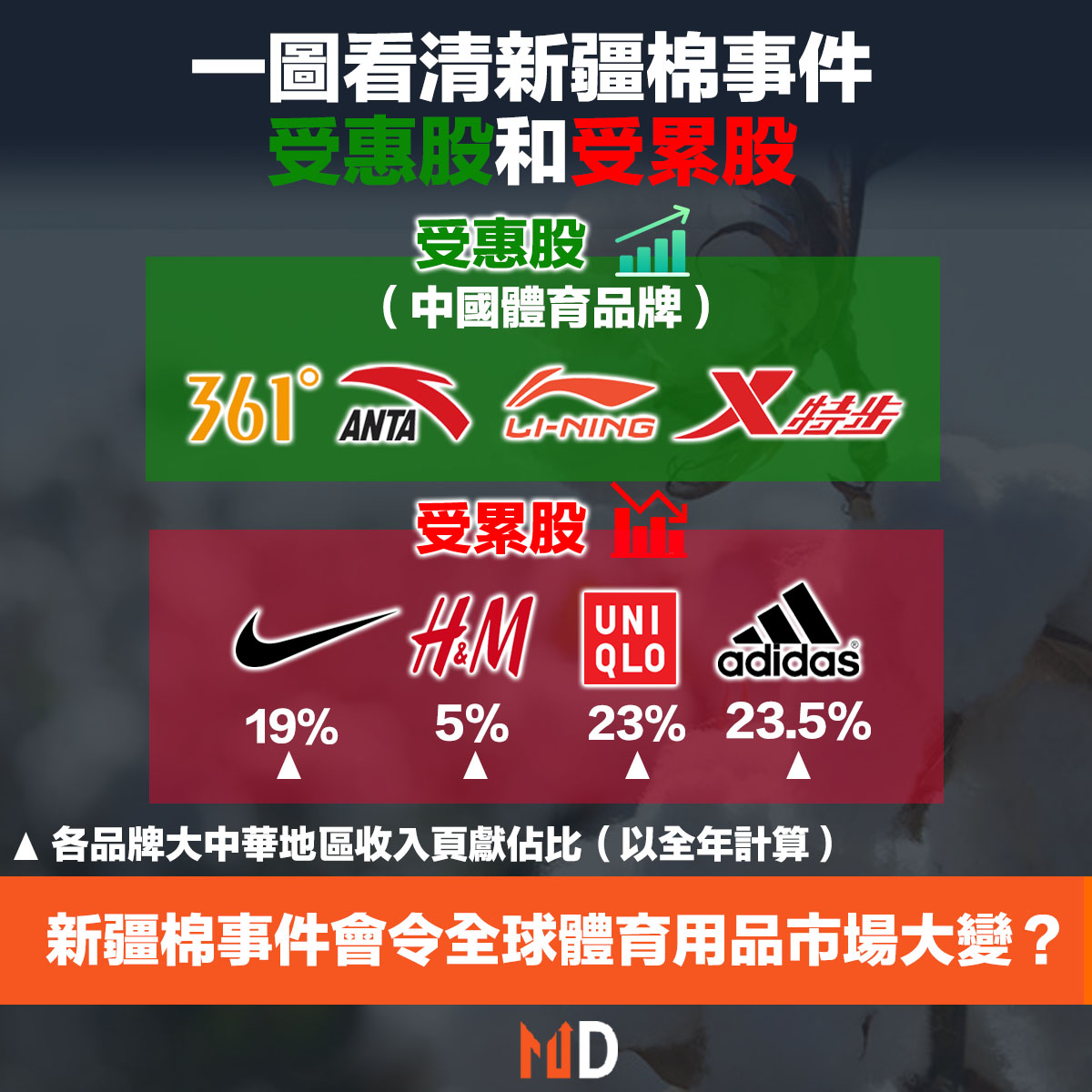 新疆棉, 體育品牌