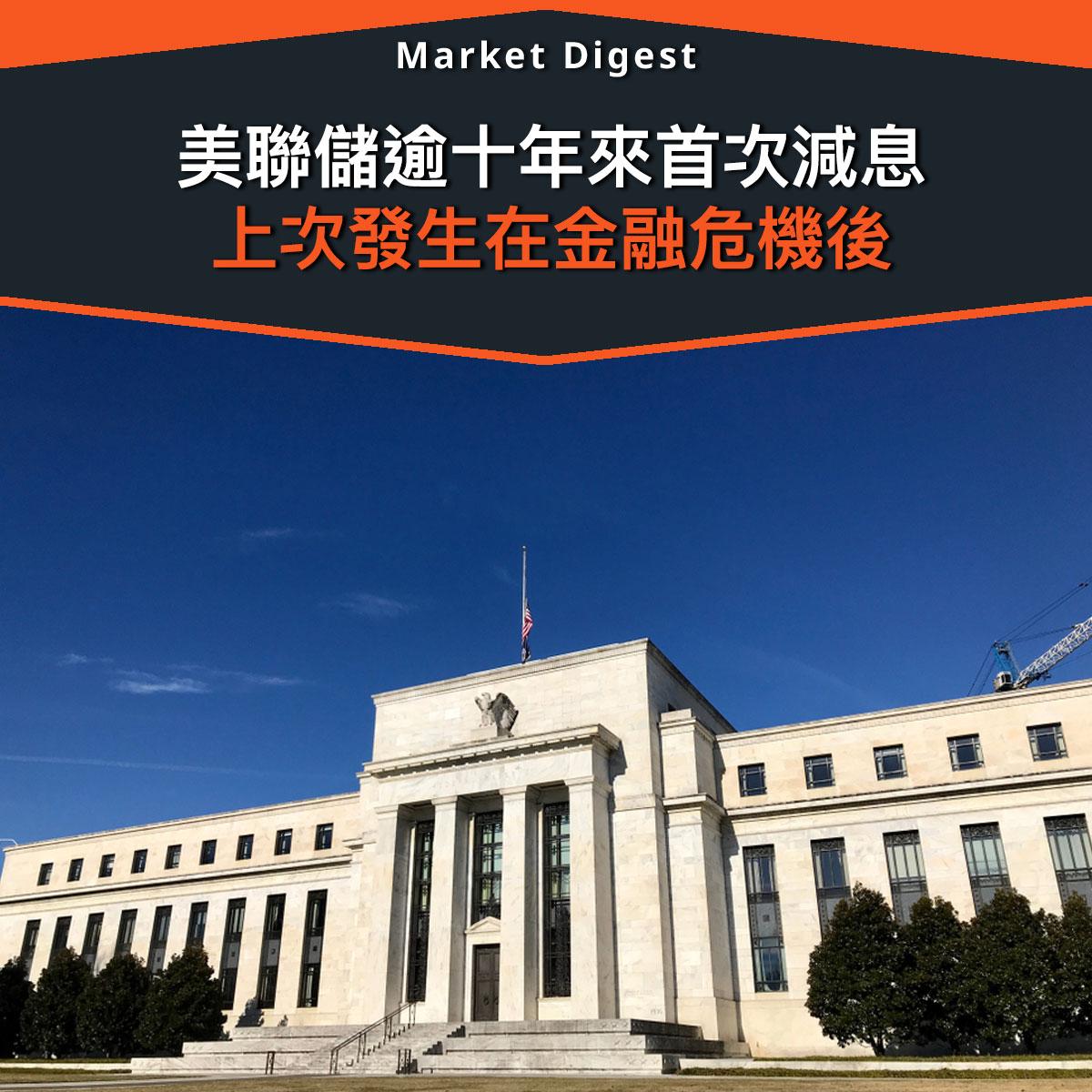 【貨幣政策】美聯儲逾十年來首次減息,上次發生在金融危機後