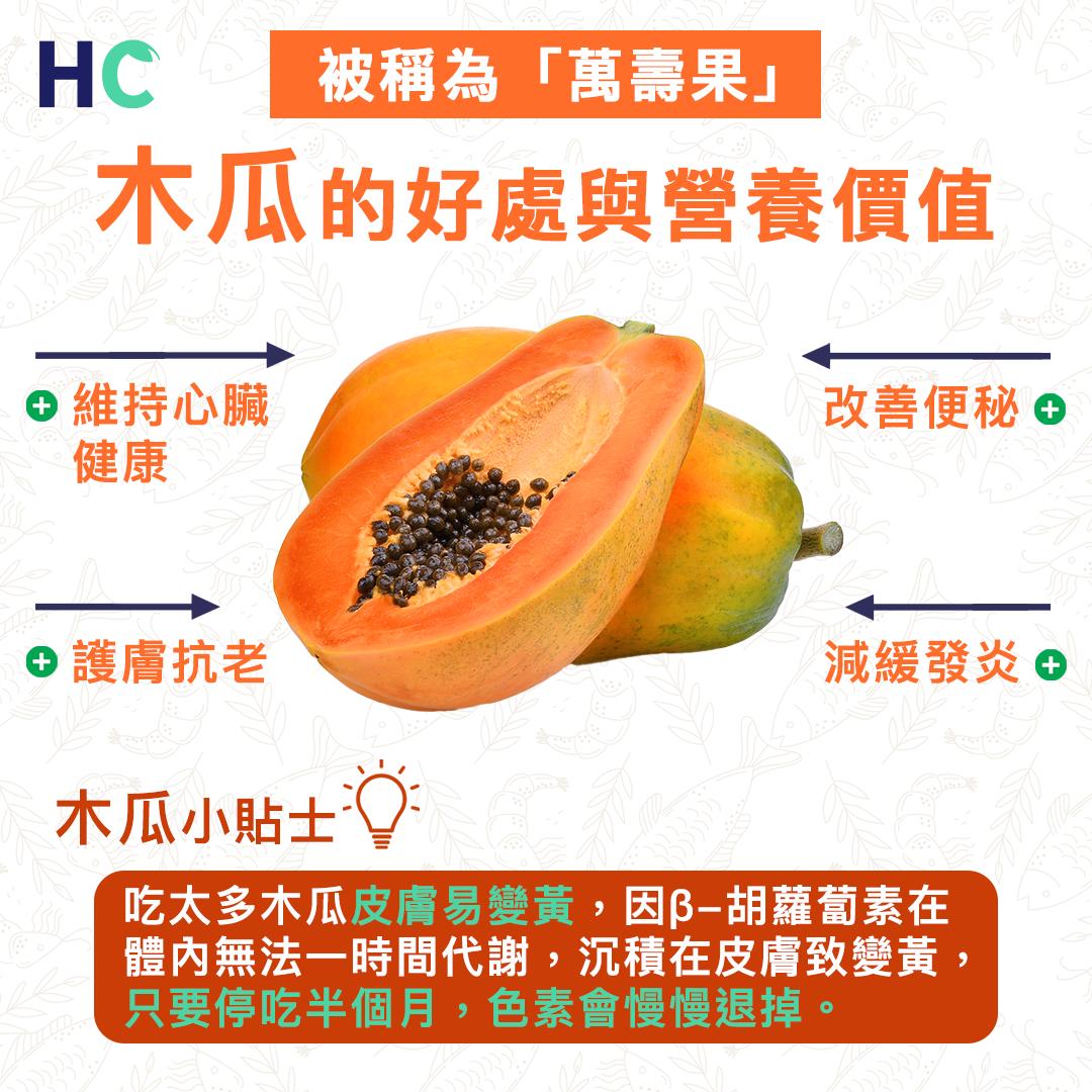 【#營養食品】木瓜的好處與營養價值