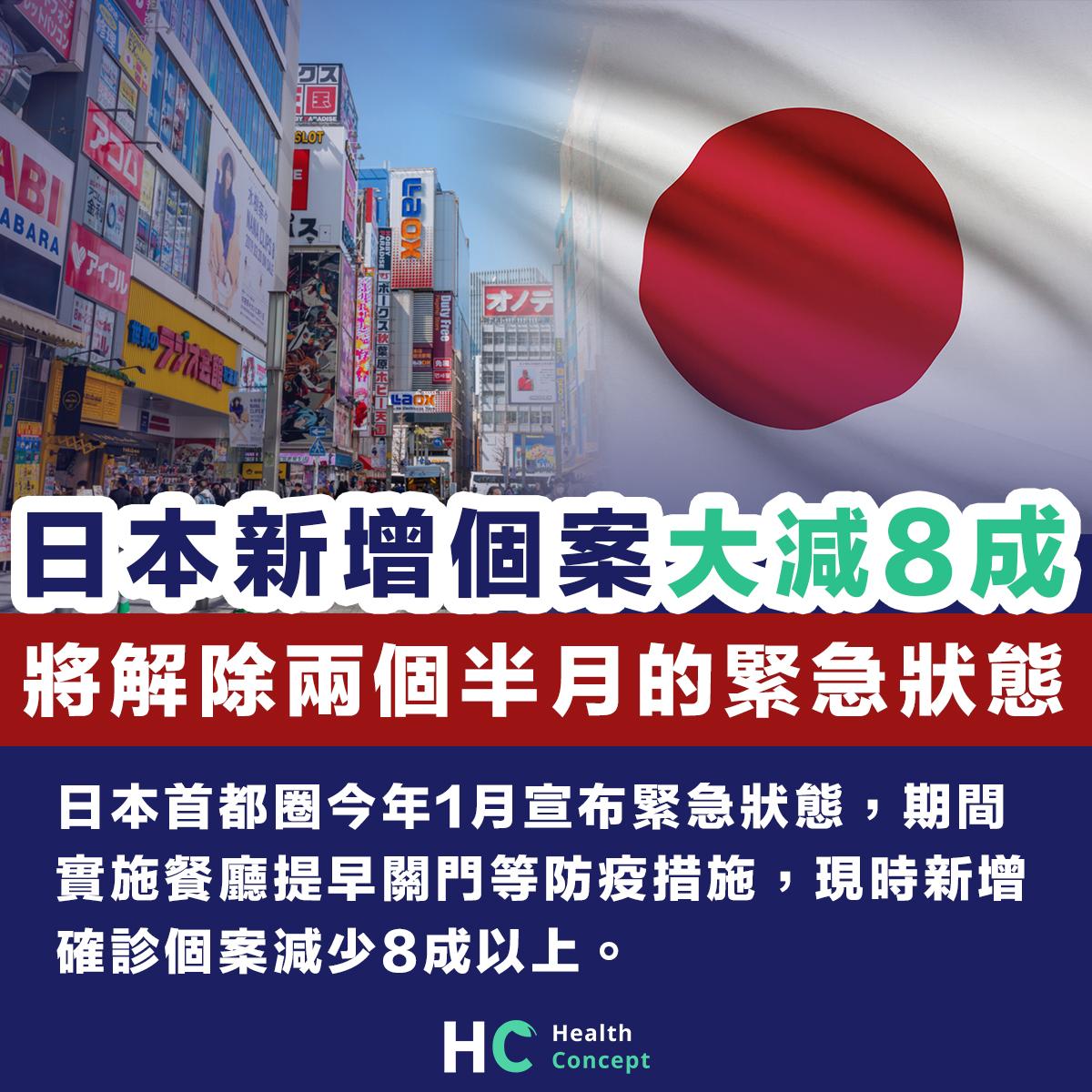 日本首都圈新增個案減8成 將解除兩個半月以來緊急狀態