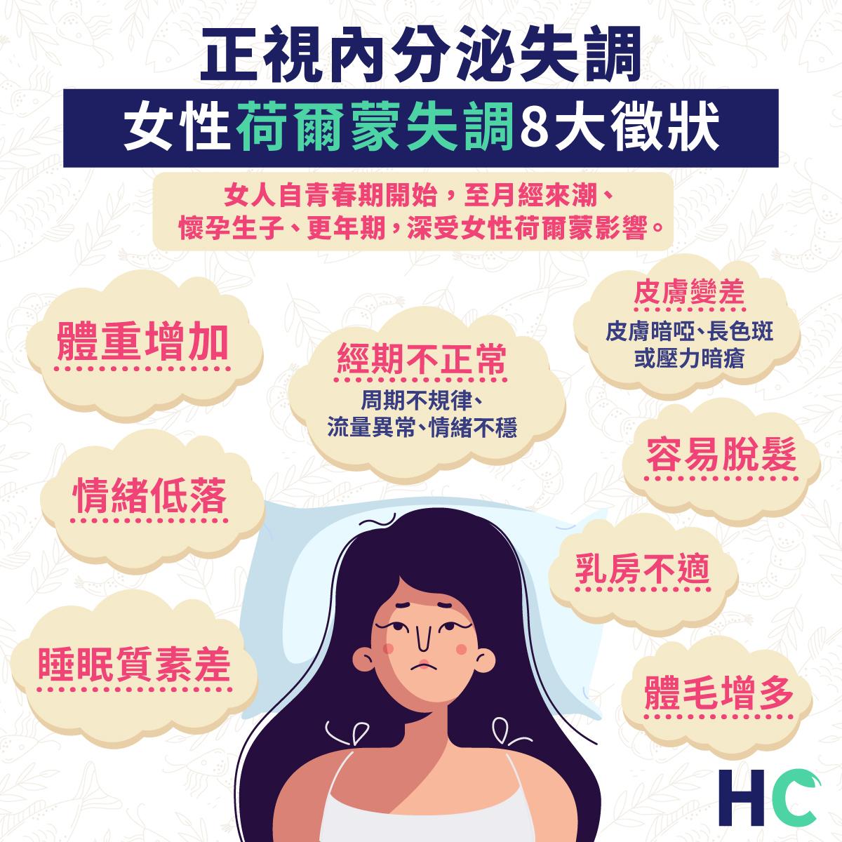 正視內分泌失調 女性荷爾蒙失調8大徵狀