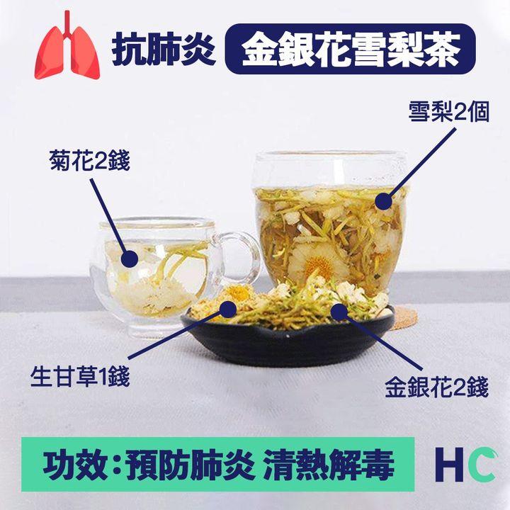 【#營養湯水】金銀花雪梨茶清熱解毒 並能預防肺炎