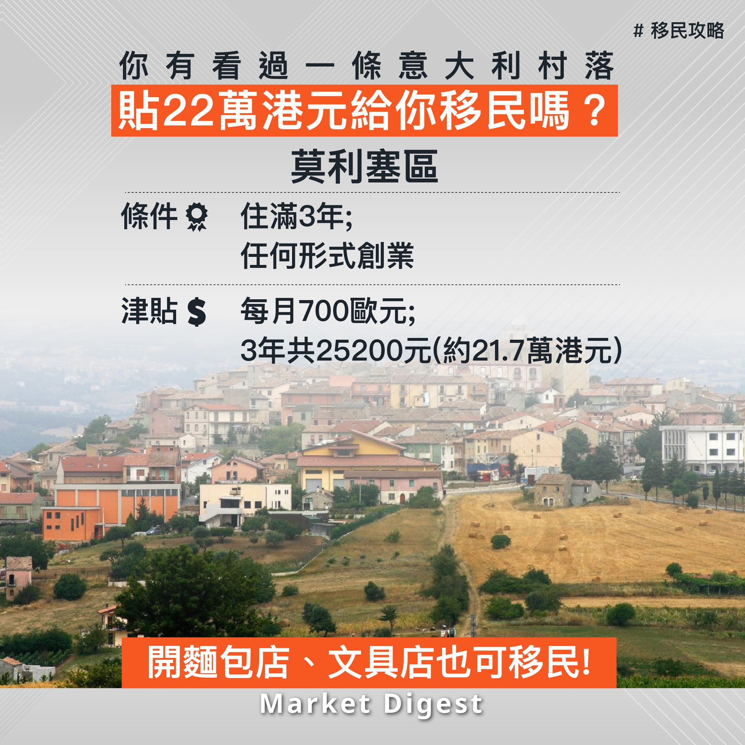 【移民攻略】你有看過一條意大利村落貼22萬港元給你移民嗎?