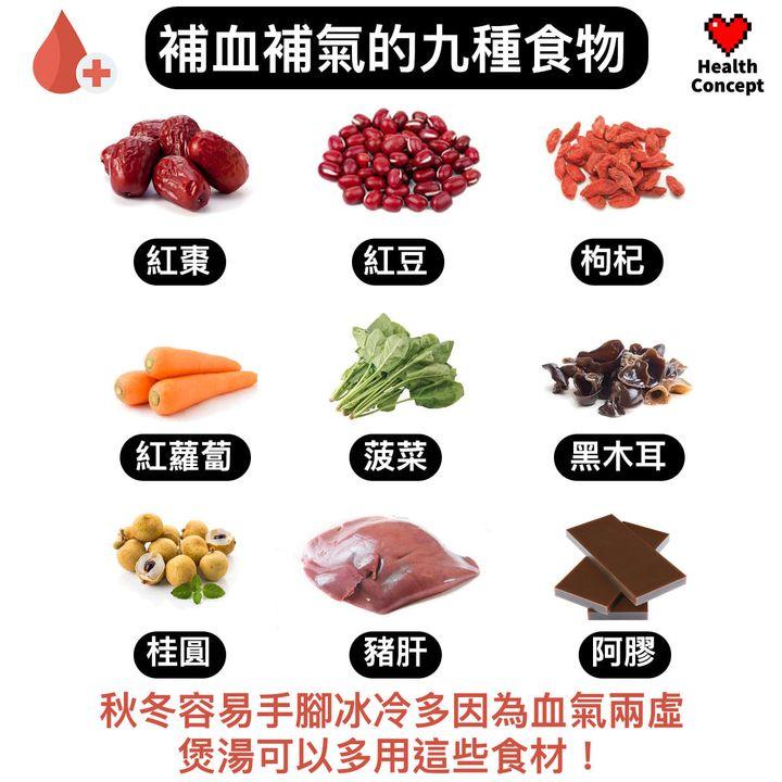 【#營養食品】補血補氣的九種食物