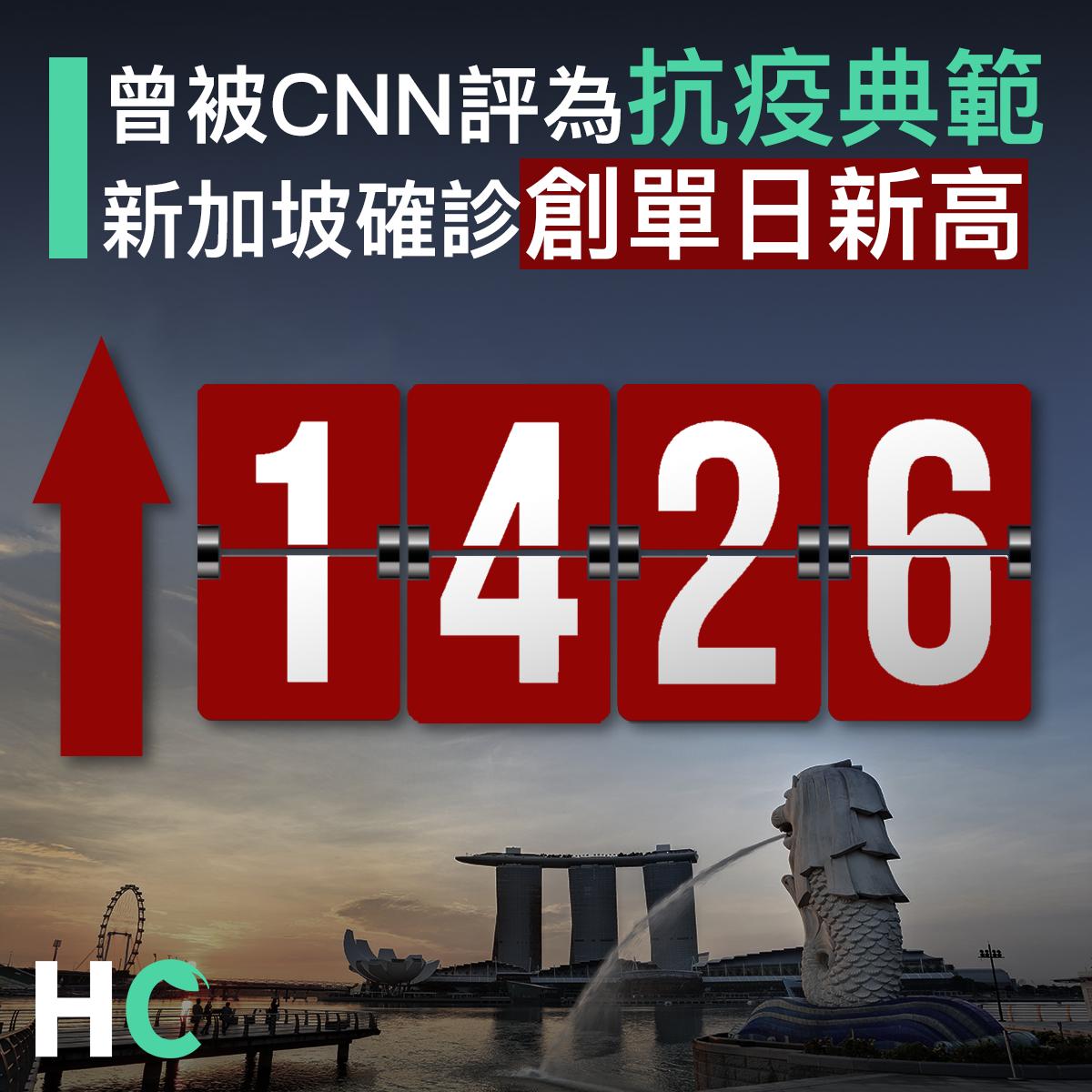 【#武漢肺炎】曾被CNN評為抗疫典範 新加坡單日確診1,426宗