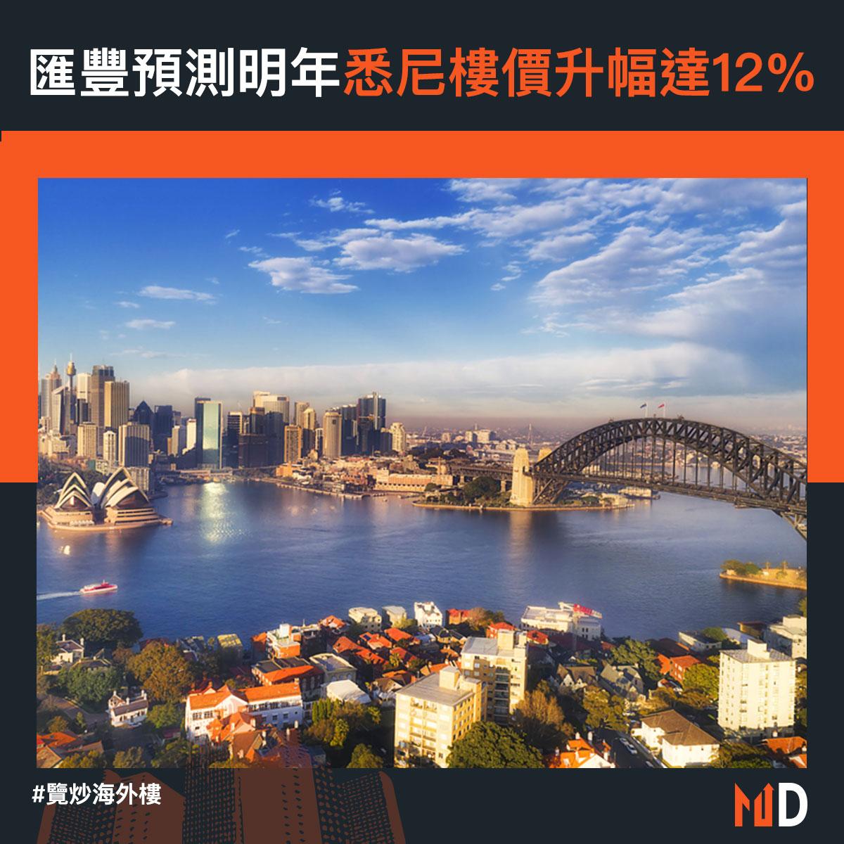 【覽炒海外樓】滙豐預測明年悉尼樓價升幅達12%