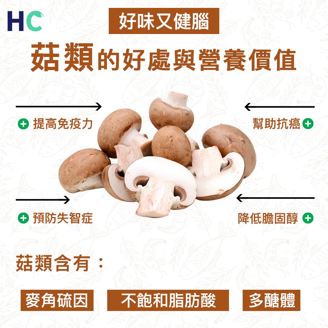 【#營養食物】菇類的好處及營養價值